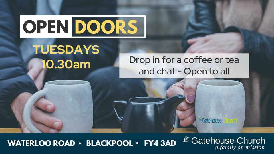 Tuesdays at the Gatehouse Open Doors come in for a brew and chat