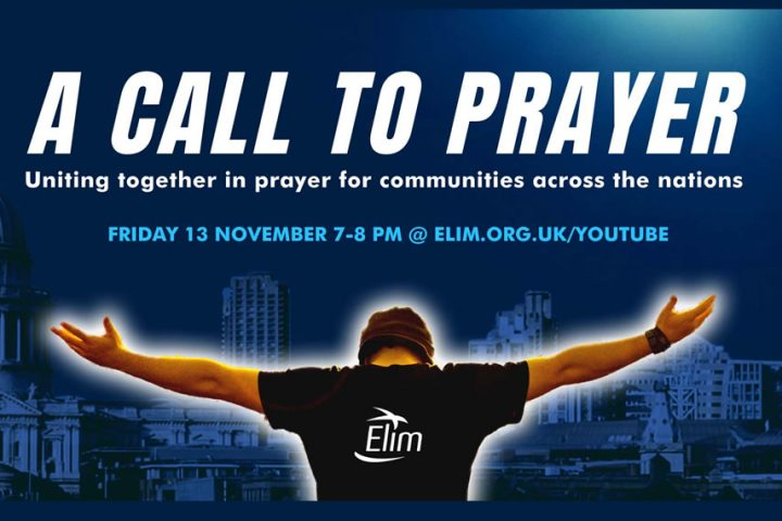 A call to prayer 13 November 7-8pm