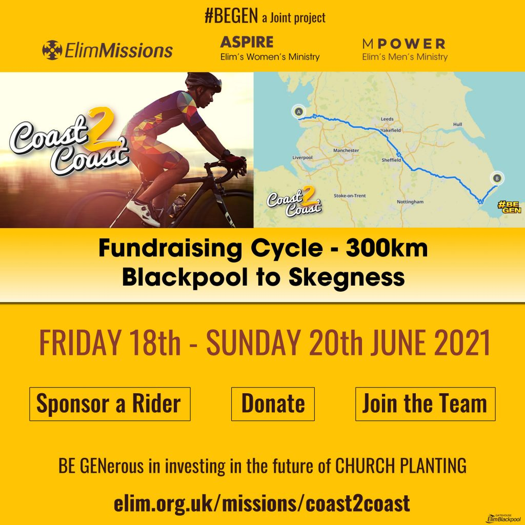 Fundraising cycle blackpool to Skegness 300km
