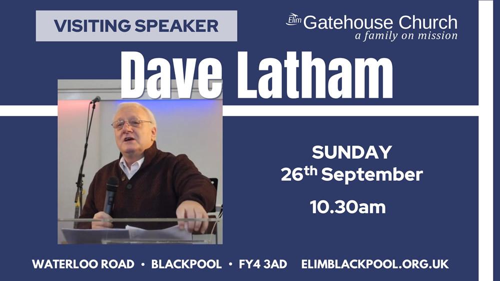 Visiting Speaker Dave Latham